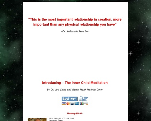 Dr. Joe Vitale's Inner Child Meditation