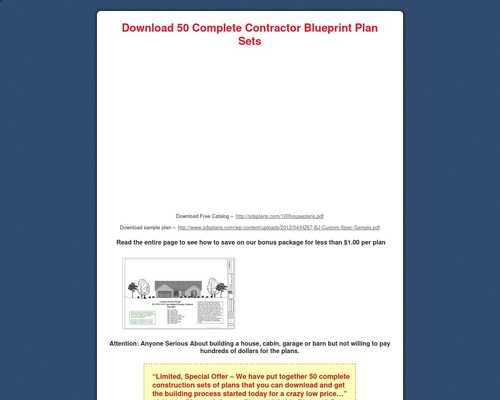 50 Houses, Garages, Barns & Cabin E-plans Blueprints