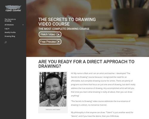 The Secrets To Drawing Video Course