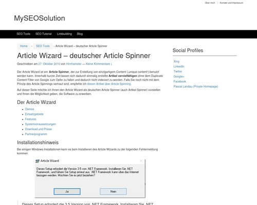 Article Wizard — Deutscher Article Spinner