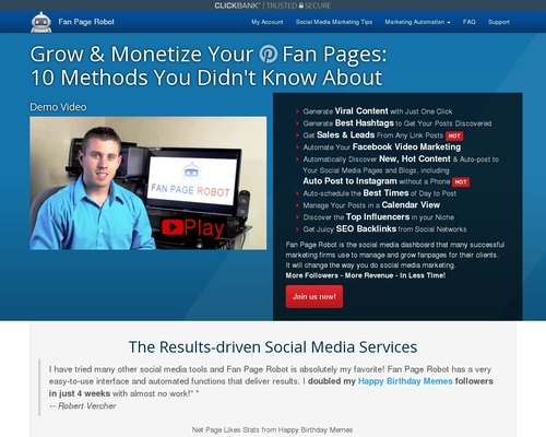 Fan Page Robot — Automated System To Grow Social Media Fanbase & Leads