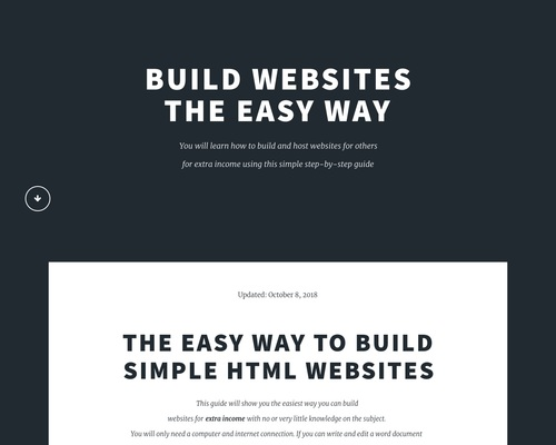 Make Money Building Websites