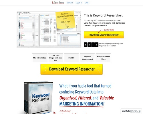 Keyword Researcher — SEO Software / Finds Long Tail Keywords