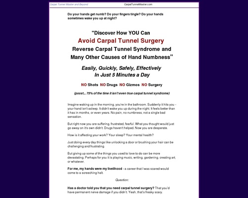 Carpal Tunnel Master And Beyond