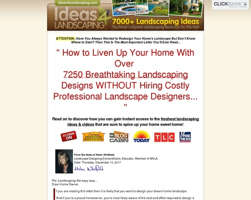 New Updates! 7250 Landscaping Ideas — $56.77 Per Sale + 75% Comms