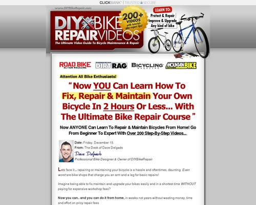 Newly Updated! Diy Bike Repair Course — Red Hot Conversions!