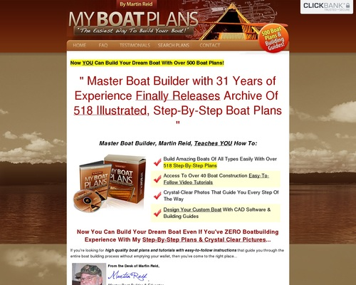 New! Myboatplans 518 Boat Plans — Updated For Higher Comms!