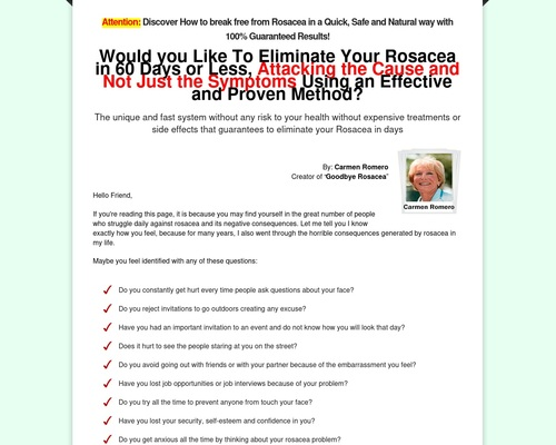 Goodbye Rosacea — 75% — The Highest Converting Rosacea Offer On CB